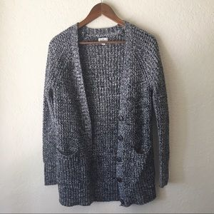 American Eagle Knit Woven Cardigan L Button Down